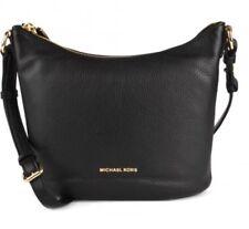 New Michael Kors Lupita Messenger Crossbody Leather Bag Purse Tote Black Gold