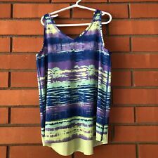 IVIVVA Girl's RUN DAY FUNDAY Tank Top Purple Green Top Size 10
