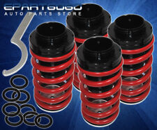 FOR 1990-94 NISSAN 240SX S13 HIGH-LOW RED ADJUSTABLE COIL COILOVER LOWER SPRINGS