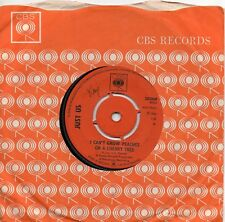 JUST US  I CAN'T GROW PEACHES ON A CHERRY TREE / I CAN SAVE YOU  UK CBS  60s POP