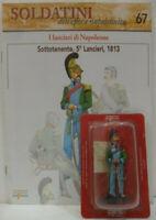 """Soldatini Napoleonici in piombo """"SOTTOTENENTE, 5° Lancieri, 1813"""" mm. 54 c/fasci"""