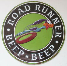ROAD RUNNER EMBOSSED METAL SIGN, DODGE CHRYSLER JEEP PLYMOUTH DESOTO MOPAR
