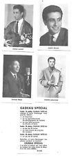 4 Images St LUC - Bécaud, Trenet, Aznavour, Amont - Chanteurs Français - 1950/60