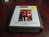 Vintage 1987 Atari 7800 One on One Basketball Video Game Cartridge