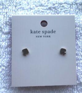 kale spade New York signature spade earrings -rose gold color studs- post back