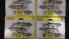 4 packs brand new Storm wildeye live pike soft plastic fishing lures, 10cm