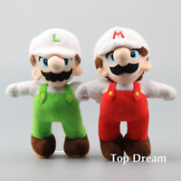 New Super Mario Bros. Fire Mario & Fire Luigi Plush Toy Stuffed Doll Figure 10''