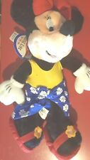 "Walt Disney Cruise Line Castaway Cay Minnie Mouse 12"" Bean Bag Beanie Plush Toy"