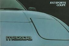 Mazda RX7 Sports Coupe UK Market Brochure March 1984 12 Pages In Good Condition