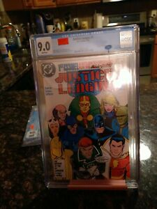 Justice League #1 CGC 9.0 1987 Key - 1st Appearance Of Black King