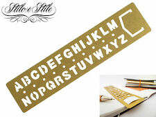 Midori Brass Template Bookmark Alphabet | Traveler's Notebook Righello alfabeto