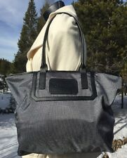 Calvin Klein CK Handbag Canvas Purse Charcoal Shoulder Bag #H1RAE309