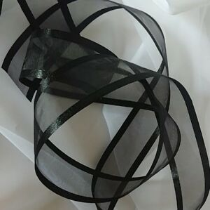 """Ribbons Organza/Satin 2 yards sections 1.5"""" wide  Shipping $3.50 first .10 other"""