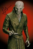 ANDY SERKIS signed Autogramm 20x30cm STAR WARS In Person SNOKE autograph COA