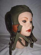 WW2  PILOTS Olive Drab CLOTH & MESH FLIGHT HELMET HAT CAP SIZE GenTex USA 6 5/8