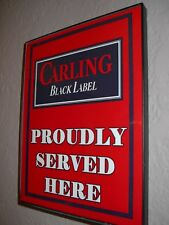 Carling Black Label Beer Bar Tavern Framed Advertising Print Man Cave Sign