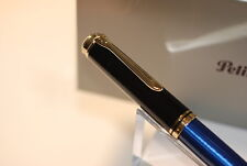 Pelikan SOUVERAN M800 Blue Black Fountain Pen 18K Gold NEW