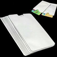 10x RFID Schutzhülle Datenschutz Personalausweis Kreditkarte Abschirmung Blocker