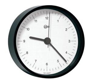 Tischuhr Barigo Home schwarz 85mm
