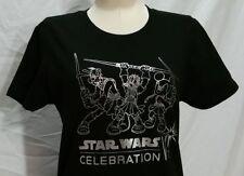 Star Wars Celebration VI Tee Women's M Disney Mickey Donald Goofy Foil T Shirt