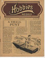 Vintage Hobbies Weekly NO Design Plan Sheet 18/4/1945 *