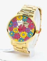 Betsey Johnson Women's Gold Tone Watch BJ00496-76BX, New