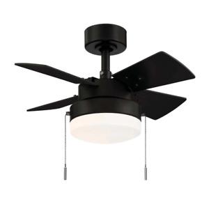 24inch Metarie II Ceiling Fan With Light Home Indoor Hampton Bay Matte Black New
