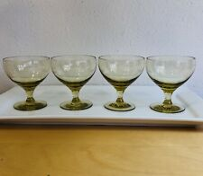 Four Russel Wright Liquor Cocktail Glasses- American Modern-Chartreuse-1950's