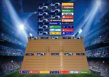 Champions League Style Stadium Stickers for Subbuteo/Zeugo Grandstands