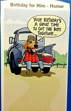 Funny BIRTHDAY Card For HIM Man Friend Family Co-Worker Husband Son Hallmark