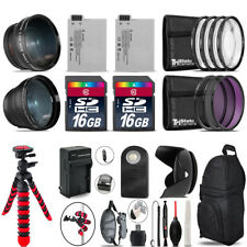 Canon Rebel T3i, T2i, T4i, T5i, EOS 600D, 650D, 700D Bundle Kit - 32GB - 58mm