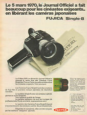 Publicité 1970  Caméra Japonaises FUJICA Single 8  FUJI FILM