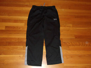UNDER ARMOUR BLACK/GRAY ATHLETIC PANTS BOYS XL EXCELLENT CONDITION