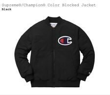 Supreme x Champion Color Blocked Jacket Sz Large Black Brand New