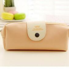Portable Leather Pencil case school Pencil Bag Stationery School Supplies G1
