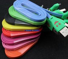 5x LED LIGHT Smile Face Data Charger Adaptor Cable For iPhone 5c 5s 6 7 8 Plus