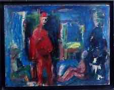 BERNARD DAMIANO 1926-2000...GRAND & PUISSANT EXPRESSIONNISTE...INTÉRIEUR ANIMÉ