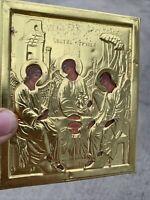 Vintage Greek Orthodox Angel in Gold Embossed Saint George UNIQUE ART ❤️sj11h1s