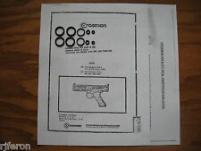 Crosman 600 677 CO2 Pistol Seal Kits 2 (TWO) Exploded View - Parts List & Guide