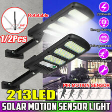 213 LED Solar Street Wall Light PIR Motion Sensor Dimmable Lamp Outdoor Garden