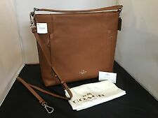 NWT COACH F34311 Saddle Brown Pebbled Leather Large Scout Hobo Cross Body