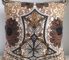 Vintage 70's Sanderson Morris Kea Cushion Cover  Rare & Black Velvet Fabric