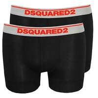 DSquared2 2-Pack Low-Rise Men's Boxer Trunks in Modal Stretch, Black