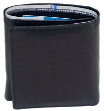 New Multi Pockets Black Classic Credit Card ID Mens Trifold Leather Mens Wallet