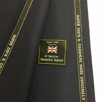 WILLIAM HALSTEAD Navy Plain Super 120's & Cashmere Suit Fabric. (300g)