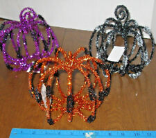 "Tinsel Pumpkins Choose Purple, black, orange 6 1/2""tall x 6"" wide"
