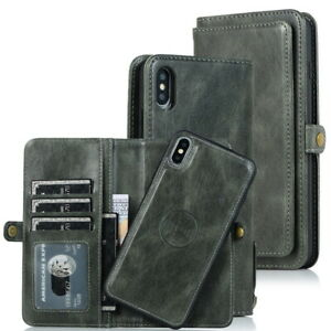 For Samsung Note 10 Plus S9 A70 A50 Removable Magnetic Leather Wallet Case Cover