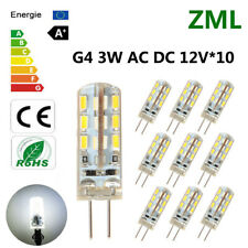 10x G4 LED Light Bulb 24 2835SMD Candle Lamp 12V Cool White Silicone Crystal