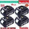 4XMakita 3.0AH 18V Li-ion Battery BL1830B For Makita Lxt Drill Saw Driver BL1845