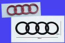 1 x Audi Rear Badge Emblem 180 x 58mm 3D Satin Black New A1-A3-S3-A4-S4-A5-S5-A6